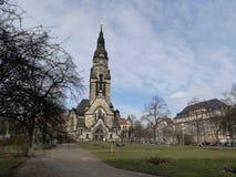 Leipzig Nord platz royaltyfri foto