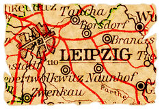 Leipzig old map Royalty Free Stock Images