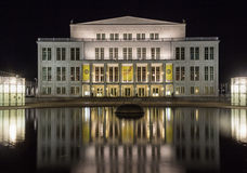 Leipzig opera in the night Royalty Free Stock Photo