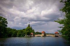 Leipzig Palmengarten-Wehr Royaltyfri Foto