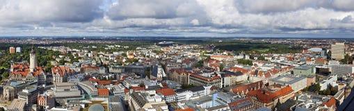 Leipzig panorama royaltyfri foto
