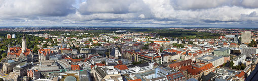Leipzig Panorama. Panoramic aerial view of Leipzig Royalty Free Stock Photo
