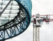 Leipzig, Saxony, Germany - October 21,2017: Construction crane b royalty free stock images
