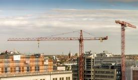 Leipzig, Saxony Niemcy, Październik, - 21 2017: Widok nad miastem c obraz stock