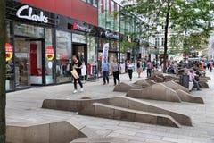 Leipzig shoppinggata Fotografering för Bildbyråer