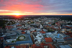 Leipzig-Sonnenuntergang lizenzfreies stockbild