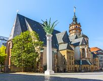 Leipzig, St Nikolai Church foto de archivo libre de regalías