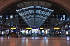 Leipzig stacja kolejowa Zdjęcie Stock