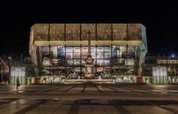 Leipzig-Stadt in der Nacht Lizenzfreie Stockfotos