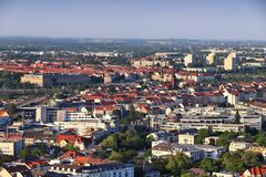 Leipzig Tyskland royaltyfri fotografi