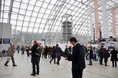 Offentlig dag för den Leipzig bokmarknaden Arkivbild