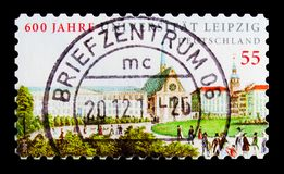 Leipzig universitet, 600. årsdag, serie, circa 2009 Royaltyfria Bilder