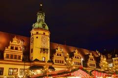 Leipzig-Weihnachtsmarkt lizenzfreie stockfotografie