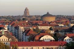 Leipzig zabytek bitwa gazometr i narody Zdjęcie Royalty Free