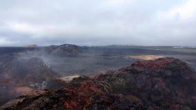 Leirhnjúkur Lava Fields in Krafla area Royalty Free Stock Image