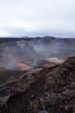 Leirhnjúkur Lava Fields in Krafla area Royalty Free Stock Photos