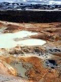 Leirhnjukur的熔岩荒野 免版税库存照片