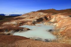 leirhnjukur лавы поля Стоковая Фотография