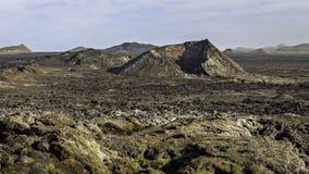 Leirhnjukur lavafält Island Royaltyfria Bilder