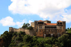 Leiria castle Stock Images