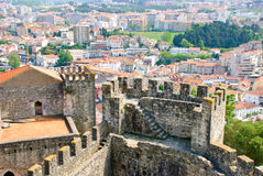 Leiria with Castle, Portugal Stock Photography