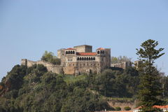 Leiriakasteel in Portugal stock afbeelding