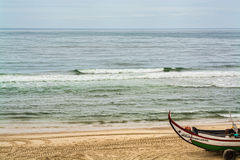 Leirosa海滩在菲盖拉达福什,葡萄牙 免版税库存图片