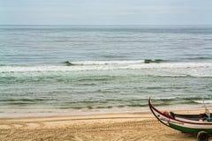 Leirosa plaża w Figueira Da Foz, Portugalia Obrazy Royalty Free