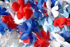 Leis rouge, blanc et bleu Image libre de droits