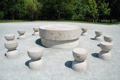 Leise Tabelle von Constantin Brancusi Stockbild
