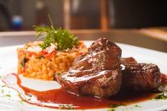 Leiste Mignon Steak Stockfoto