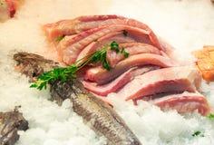 Leiste von Fischen Stockfotografie