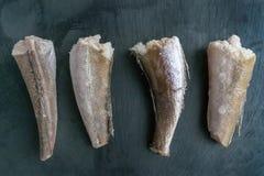 Leiste von gefrorenen Fischen Lizenzfreies Stockfoto