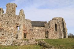 Ruins of Leiston Abbey with church Stock Image