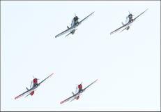 Flugzeuge in der Bildung Lizenzfreies Stockfoto