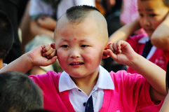 Leistung der Kinder Tages Stockfoto