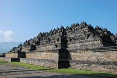 Leistung des alten Buddhismus-Tempels Borobudur, Java Stockbild