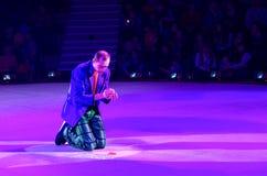 Leistung des Clowns Moskau-Zirkusses auf Eis auf Ausflug Lizenzfreie Stockbilder