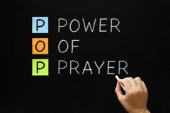 Leistung des Gebets Stockfoto