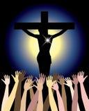 Leistung des Jesus Christus Ostern lizenzfreie abbildung