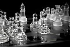 Leistung des Schachs - Ansicht von der Ecke Lizenzfreie Stockfotografie