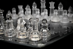 Leistung des Schachs - Kristall, Ansicht von der Ecke Lizenzfreie Stockfotografie