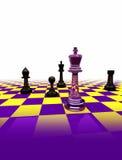 Leistung des Schachs - Kristallschach auf weißem Hintergrund Lizenzfreie Stockfotos