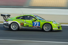 Leistung des Team-HRT Porsche 991 Schale 24 Stunden von Barcelona Lizenzfreie Stockbilder