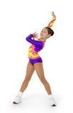 Leistung durch den jungen Athlet Aerobics Stockfotografie