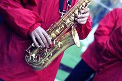 Leistung einer Jazzband Stockbild