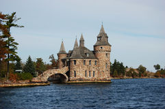 Leistung-Haus des Boldt Schlosses in tausend Inseln, NY stockfoto