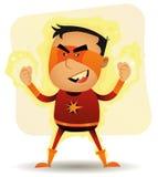 Leistung-Junge - komischer Superheld Lizenzfreies Stockfoto