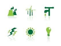 Leistung- und Energieikonen Lizenzfreie Stockbilder