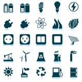 Leistung- und Energieikonenset Lizenzfreies Stockbild